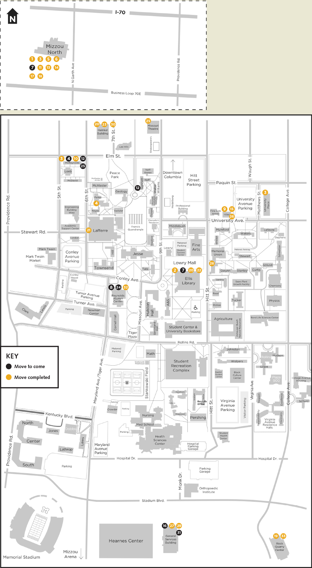 mapping new office locations mizzou weekly university of missouri